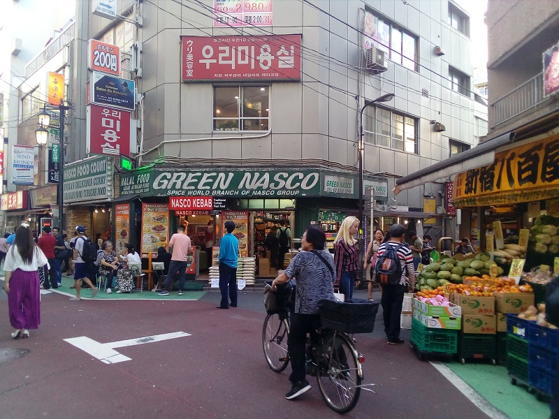 A typical busy scene in Shin Okubo